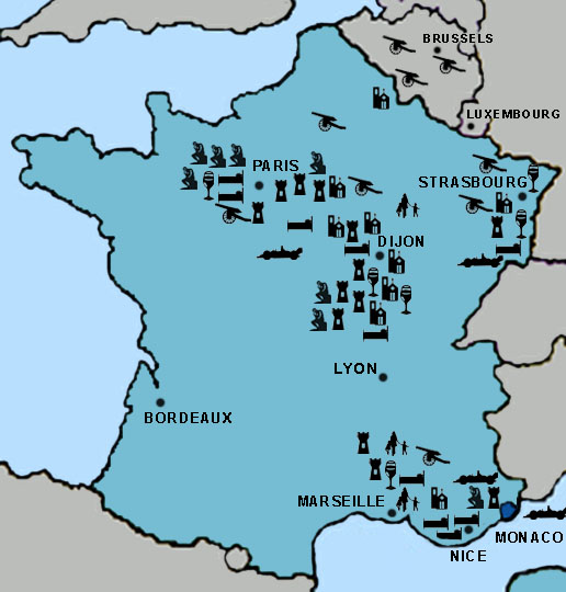 Clickable Directory Map For France Travel Destinations Idea - Luxembourg clickable map