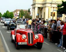 BMW in Mille Miglia throuh Regio Emilia photo