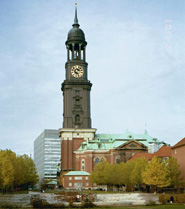 St Michael's church in hamburg best tourist sigh-seeing views photo